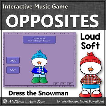 Winter Music Game ~ Dynamics Loud Soft Interactive Music Game {Dress Snowman}