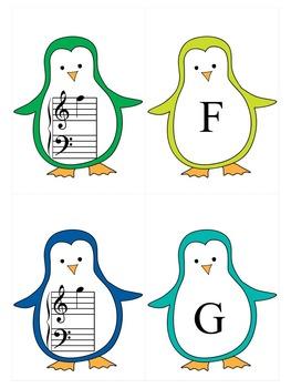 Winter Music Game: Grand Staff Penguins