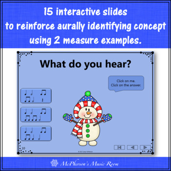Winter Music Game: Half Notes Interactive Rhythm Game {Dancing Snowman}