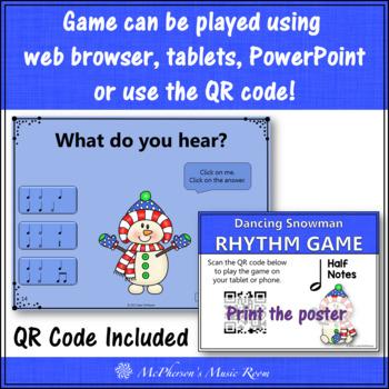 Winter Music Game: Half Notes Interactive Rhythm Game {Dancing Snowman}
