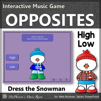 Winter Music Game ~ High Low Interactive Music Game {Dress Snowman}