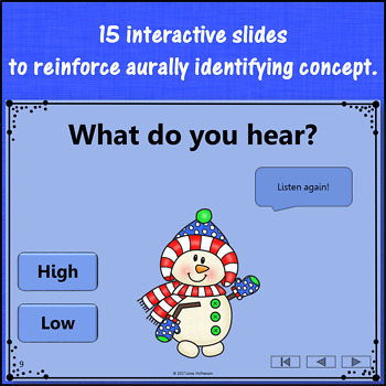 Winter Music Game: High Low Interactive Music Opposite {Dancing Snowman}