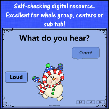 Winter Music Game: Loud Quiet Interactive Dynamics Game {Dancing Snowman}