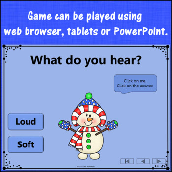 Winter Music Game: Loud Soft Interactive Dynamics Game {Dancing Snowman}