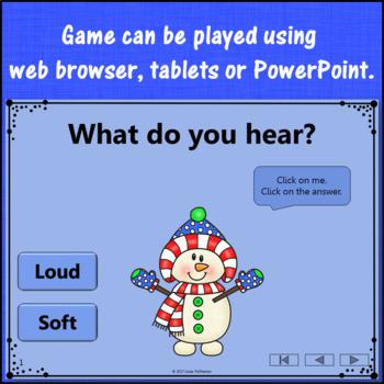 Winter Music Game: Loud Soft Interactive Dynamics Game {Dancing Snowman}