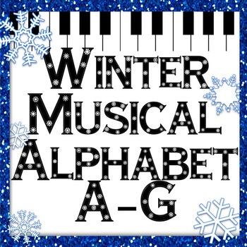 Winter Music Game: Snowflake Musical Alphabet