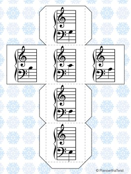 Winter Music Game: Snowman Notes- Middle C Position