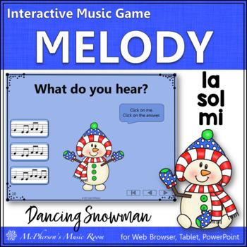 Winter Music Game: Sol Mi La Interactive Melody Game {Dancing Snowman}