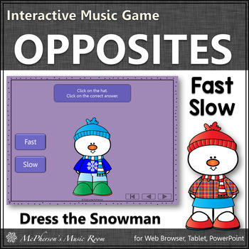 Winter Music Game ~ Tempo Fast Slow Interactive Music Game {Dress Snowman}