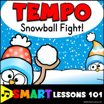 Winter Music Game: Tempo Music Game: Tempo Snowball Fight Activity Lesson