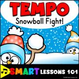 Winter Music Game: Tempo Music Game: Tempo Snowball Fight