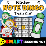 Winter Music Games: Winter Treble Clef Bingo Game: Note Re