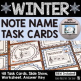 Winter Music Games and Activities: Note Name Task Cards/PowerPoint