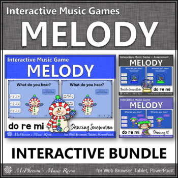 Winter Music Games: Do Re Mi Interactive Melody Games {Bundle}