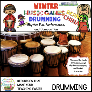 Winter Music Games 14 rhythm Drumming - Composition Pack