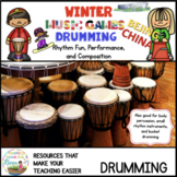 Winter Music Games 14 rhythm Drumming - Composition Bundle