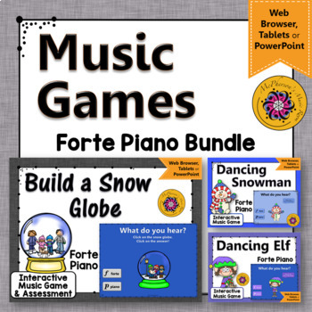 Winter Music Games: Dynamics Forte & Piano {Interactive Music Games Bundle}