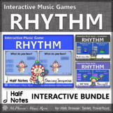 Winter Music Games: Half Notes Interactive Rhythm Games {Bundle}