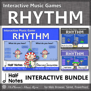 Winter Music Games: Half Notes Interactive Rhythm Games {Bundle}
