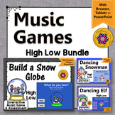 Winter Music Games: High Low Interactive Music Opposite Games {Bundle}
