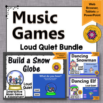 Winter Music Games: Loud Quiet Interactive Dynamics Games {Bundle}