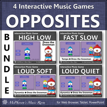 Winter Music Games ~ Music Opposites and Comparatives {Dress Snowman Bundle}