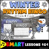 Winter Music Games: Rhythm Flashcard Bingo Games Winter Mu