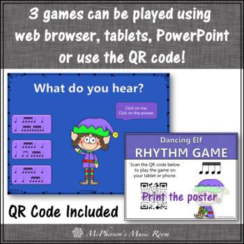 Winter Music Games: Sixteenth Notes Interactive Rhythm Games {Bundle}