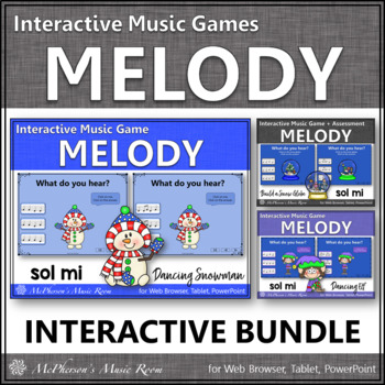 Winter Music Games: Sol Mi Interactive Melody Games {Bundle}