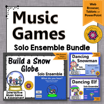 Winter Music Games: Solo Ensemble Interactive Music Games {Bundle}