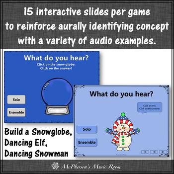 Winter Music Games: Solo Ensemble Interactive Music Games {Bundle}