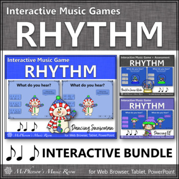 Winter Music Games: Syncopa Syncopation Interactive Rhythm Games {Bundle}
