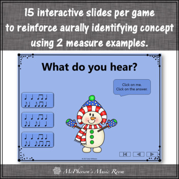 Winter Music Games: Syncopa Syncopation Interactive Rhythm Games {Bundle}