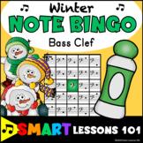 Winter Music Games: Winter Bass Clef Bingo Game: Note Read
