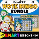 Winter Music Games: Treble Bass Clef Bingo Music Games: Wi