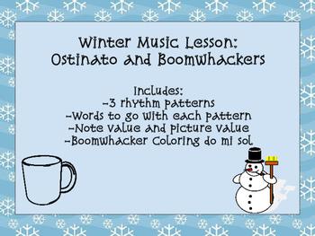 Winter Music Lesson: Boomwhacker and Ostinato