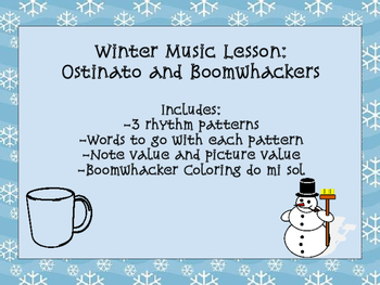 Winter Music Lesson: Boomwhacker and Ostinato
