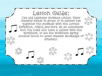 Winter Music Packet: Dynamic Snowmen