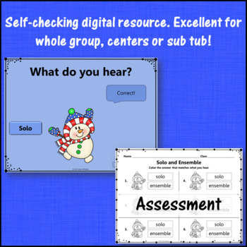 Winter Music: Solo Ensemble Interactive Music Game & Assess {Dancing Snowman}