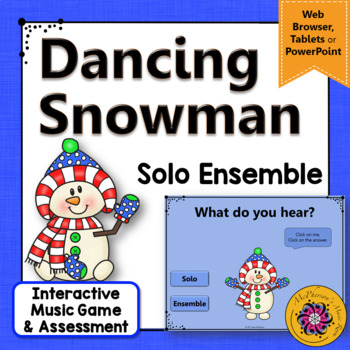 Winter Music: Solo Ensemble Interactive Music Game & Assess {Dancing Snowman}