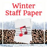 Winter Music Staff Paper: Grand Staff