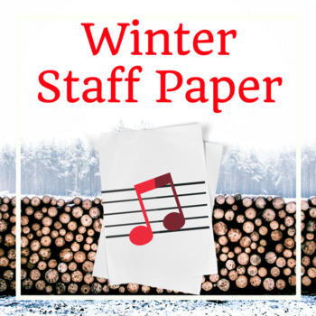 Winter Music Staff Paper Grand Staff By Piano With A Twist TpT