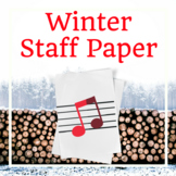 Winter Music Staff Paper: Grand Staff