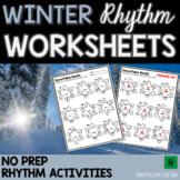 Winter Music Worksheets & Christmas Music Worksheets: RHYTHM