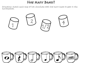 Winter Music Worksheets: Rhythm