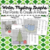 Winter Mystery Graphs - Plot Points on the Coordinate Plane to Create a Picture