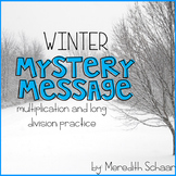 Winter Mystery Message (Multiplication and Long Division Practice)