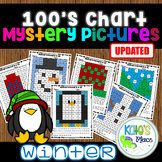 Winter Mystery Picture 100s Chart