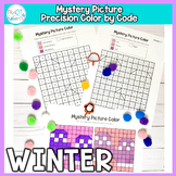 Winter Mystery Picture Color By code: No Prep Fine Motor P