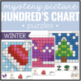 Winter Mystery Picture Hundred's Chart Puzzles